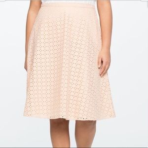 Eloquii Gillian Eyelet Skirt Light Pink Size 20